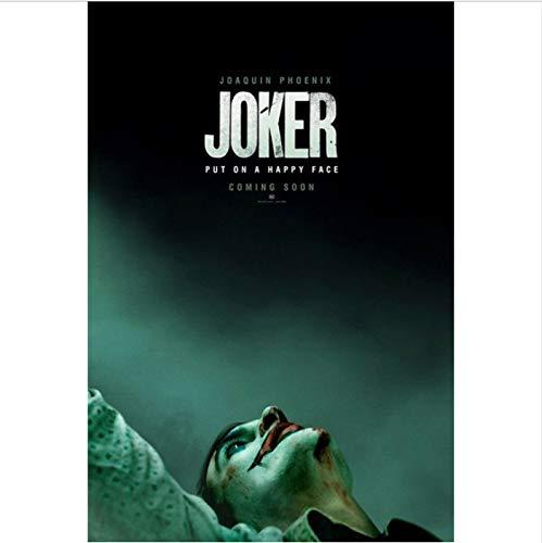 yhnjikl Joker 2019 Joaquin Phoenix Heath Ledger DC Film Comics Mur Art Peinture Impression sur Toile Affiche Photos Maison D/éco 40X60Cm sans Cadre