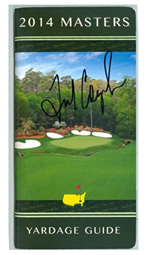 Fred Couples autographed Yardage Guide Augusta National G...