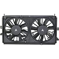 MAPM Premium IMPALA 00-03 RADIATOR FAN SHROUD ASSEMBLY, Dual fan Type, Includes Shroud, Motor and Blade