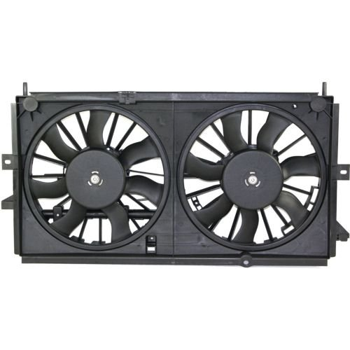 MAPM Premium IMPALA 00-03 RADIATOR FAN SHROUD ASSEMBLY, Dual fan Type, Includes Shroud, Motor and Blade