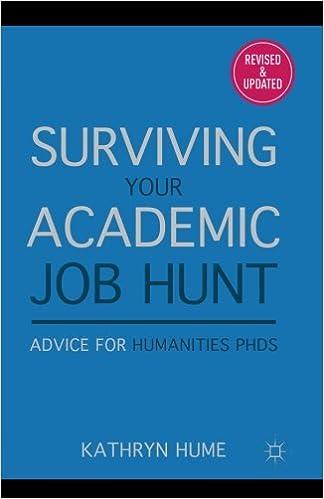 Surviving Your Academic Job Hunt: Advice for Humanities PhDs ...