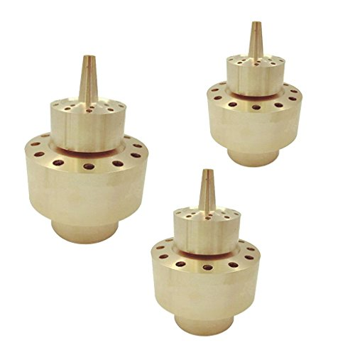 Flameer 3pcs Brass 2-Layer Column Garden Fountain Water Nozzle Sprinkler Spray Head, applicable for a wide range of ponds and fountains by Flameer