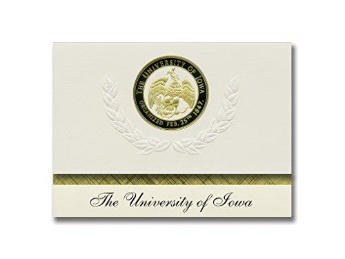 Signature Announcements University of Iowa Graduation Announcements, Platinum style, Basic Pack 20 with U. of Iowa Seal Foil