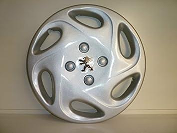 Juego de tapacubos 4 tapacubos diseño Peugeot Bipper r 13 o 14 r () Logo cromado: Amazon.es: Coche y moto