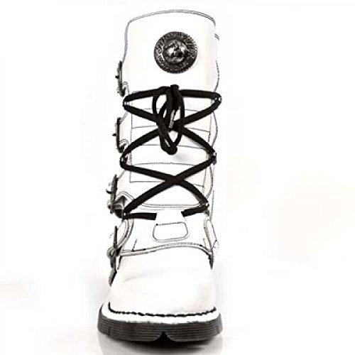 New Rock Laarzen M.1473-c140 Gothic Hardrock Punk Unisex Stiefel Weiß