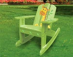 Primavera venta–Lovely verde jirafa o silla de jardín mecedora 20611, para niños entre 2y 6años