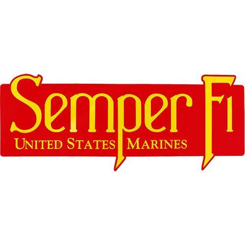 Semper Fi U.S. Marines Clear Decal