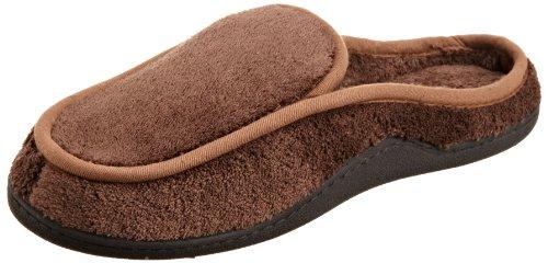 isotoner Men's Terry Slip On Clog Slipper with Memory Foam for Indoor/Outdoor Comfort