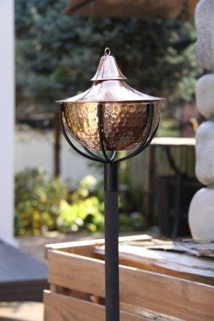 Starlite Garden And Patio Torche 1204 HC Lite Hammered Copper Maui Grande  Garden Torches