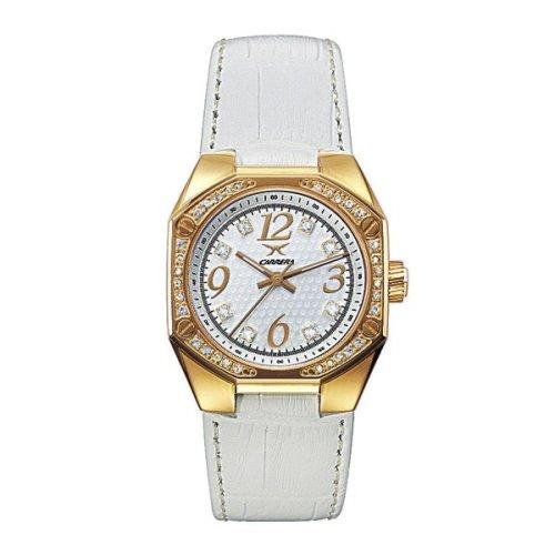 Carrera Sprint Lady 4288963 - Reloj de mujer de cuarzo con correa de piel blanca: Amazon.es: Relojes
