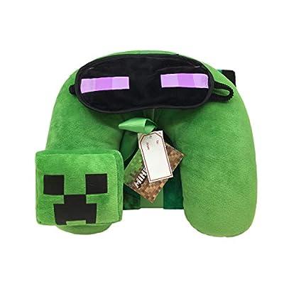 MINE Minecraft Kids Children Toddler Neck Pillow - 3pc Travel Set