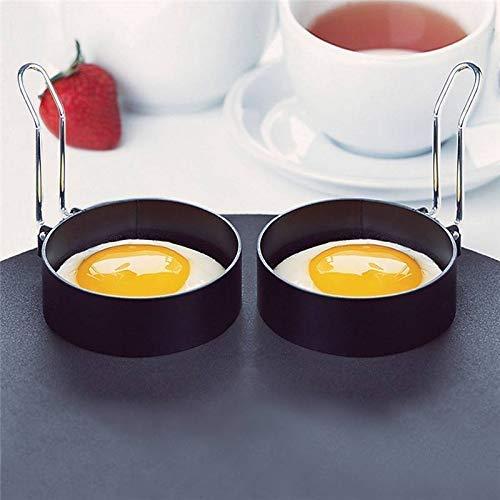 Stainless Steel Egg Ring,2 Pcs Round Breakfast Household Egg Mold Tool Cooking Tool Omelette