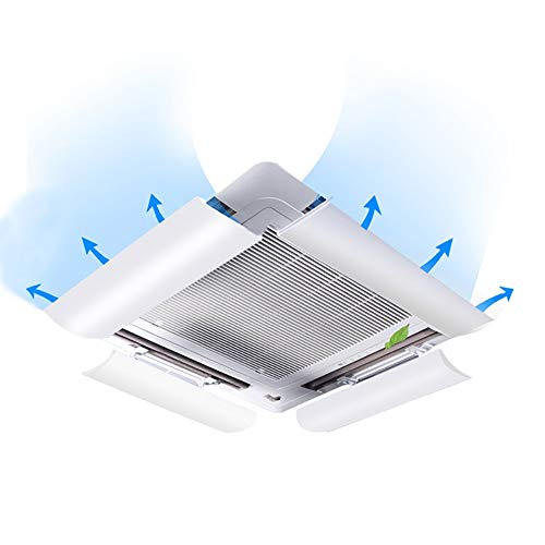 Central Air Conditioning Wind Deflector Universal Deflector Hood Anti Direct Blowing Ceiling Machine Outlet Baffle (4 Pack)