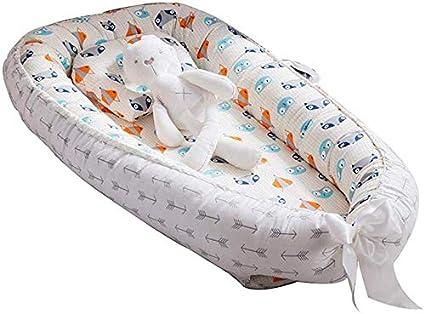 Idea para reci/én Nacidos para Cosleeping Funda extra/íble con algod/ón org/ánico Supersuave Nido Transpirable para reci/én Nacido Puzzlos 1# Tumbona para beb/é