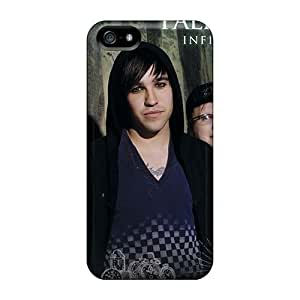 Iphone 5/5s XMz7822qatD Allow Personal Design Realistic Fall Out Boy Band FOB Skin Scratch Resistant Hard Cell-phone Cases -MarieFrancePitre