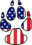 Dog Paw Decal - American Flag Vinyl Sticker - Dog Paw Bumper Sticker - Dog Decal - Perfect Dog Owner Gift - Made in the USA