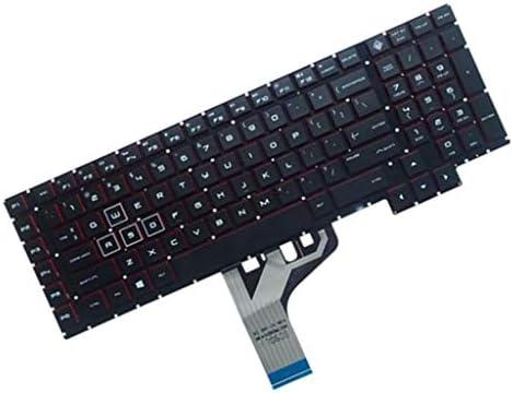 H HILABEE Tastiera Completa Inglese Americana Senza Cornice con Retroilluminazione per HP Omen 17-an 17-an000
