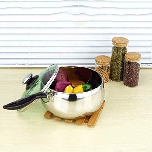 WQF Einhand-Suppentöpfe, glasbedeckte niedrige Suppentöpfe, multifunktionale Antihaft-Pfanne für kleine Haushalte