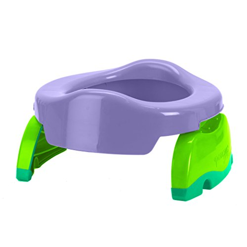Seat Portable Folding Potty (Kalencom Potette Plus 2-in-1 Travel Potty Trainer Seat Lilac)