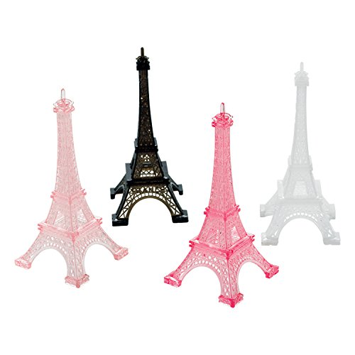 Amscan 398185 Day in Paris Eiffel Tower - Multicolor, One Size, Multi