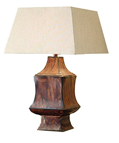 Asian Metal Table Lamp - 2