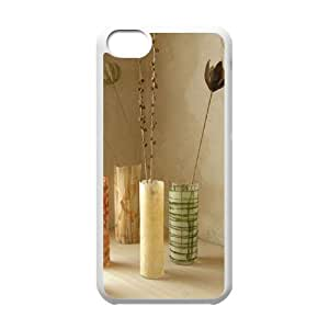 The beautiful vase Customized Cover Case with Hard Shell Protection for Iphone 5C Case lxa#480441