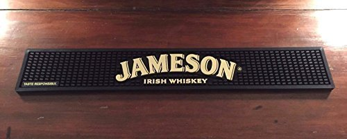 - Jameson Pub Mat -Black and Tan with Arched Logo