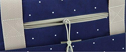Mamá bolsa de múltiples funciones de gran capacidad de la madre materias del niño y del paquete madre del paquete de revestimiento oblicua cruz embarazada mujeres embarazadas bolsa ( Color : Azul ) Azul oscuro