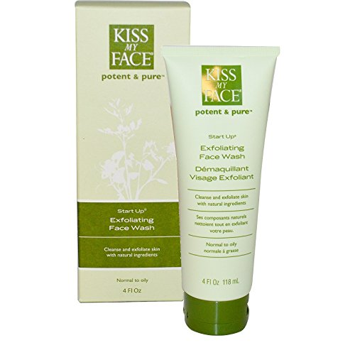 Kiss My Face, Start Up, Exfoliating Face Wash, 4 fl oz (118 ml) - 2pc