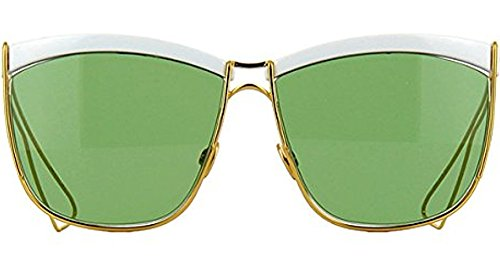 Christian Dior Sunglasses SO ELECTRIC 266DJ White Gold Frame Green - 58 Sunglasses Dj