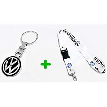 Amazon.com: Nueva 1pcs Volkswagen Llavero Lanyard Badge ...