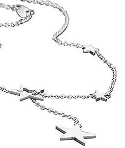 Lotus yle - LS1290-1/1 - Collar de mujer de acero inoxidable, 69 cm