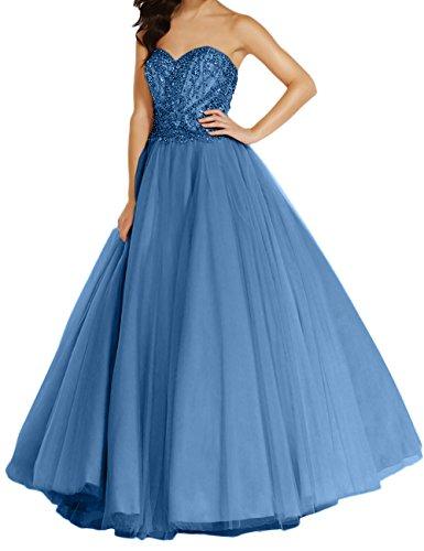 A Ballkleider Blau mia Bodenlang Neu Linie La Steine Dunkel Abendkleider Braut 2018 Festlichkleider Langes Abschlussballkleider xzqwFU0d6