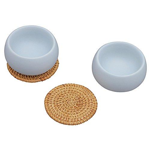 ZENS Lifestyle Ceramic Cups Set of 2, for Sauce Dessert Ice