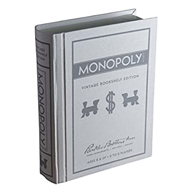 Monopoly Linen Book Vintage Edition Board Game