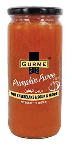 (Gurme212 Pumpkin Puree in Jar for Cheesecake, Soup and More, 17.5 oz)