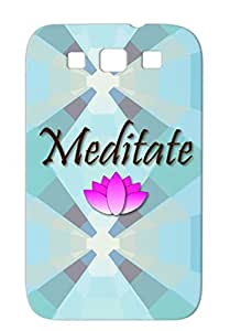 Eastern Fitness Om Meditate Philosophy Lotus New Age Religion Yoga Enlightenment Flower Meditate Case For Sumsang Galaxy S3 TPU Yellow