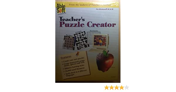Amazon.com: Teacher's Puzzle Creator: Software
