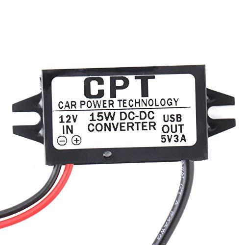 Affidabile Car Power Technology Caricabatterie Convertitore CC Modulo Singola porta da 12V a 5 V 3A 15 W con cavo Micro USB CPT-UL-6