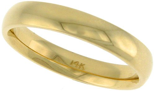 Amazon 14k Yellow Gold 5 5 mm Wedding Band Thumb Ring fort
