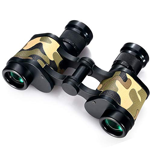 QQLK 6×24 Binoculars Hd Outdoor Wide-Angle Camouflage Telescope, Ideal for Bird Watching, Hunting, Tourism ()