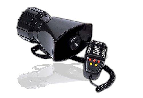 (Zento Deals 60W Emergency Sounds Air Horn- 5 Tones PA Microphone Siren Sytem)
