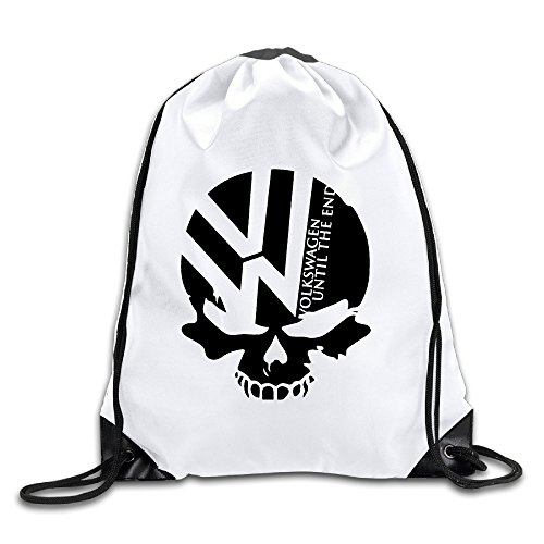 logon-8-volkswagen-logo-with-punisher-skull-symbol-comfortable-drawstring-bags-one-size