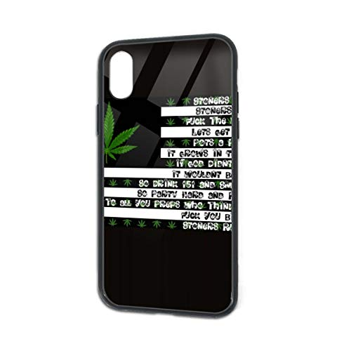 Cute Stoner Love Quotes Weed Leaf Flag iPhone X/XS Case 5.8