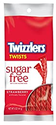 Twizzlers Sugar Free Strawberry Twists, 5-Ounce Bags (Pack of 6)