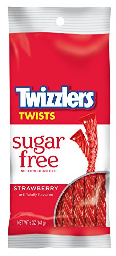Twizzlers Sugar Free Strawberry Twists, 5-Ounce Bags (Pack of 6) Hershey Twizzlers Strawberry Candy