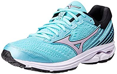 Mizuno Australia Women's Wave Rider 22 Running Shoes, Angel Blue/Lavender Frost/Black, 6.5 US