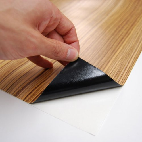 Burlwood Dark Wood Grain Film Vinyl Sheet Roll Wrap