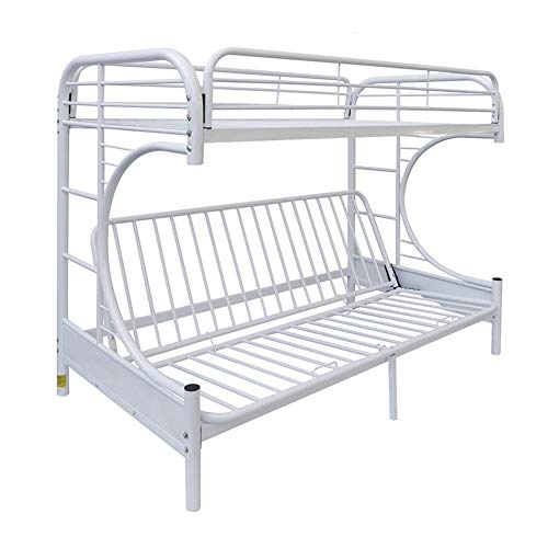 Eshion Eclipse Multi-functional Twin Over Full Futon Bunk Bed, Multiple Colors (White) by eshion