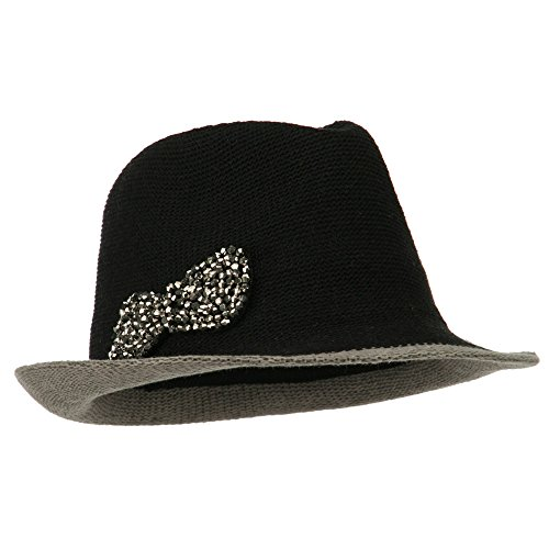 SS/Hat Trimmed Brim Bow...